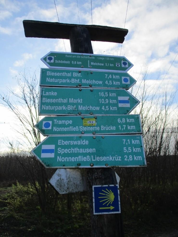 Wanderwege Barnimer Heide